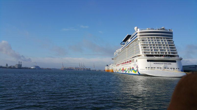 Statek w Southampton